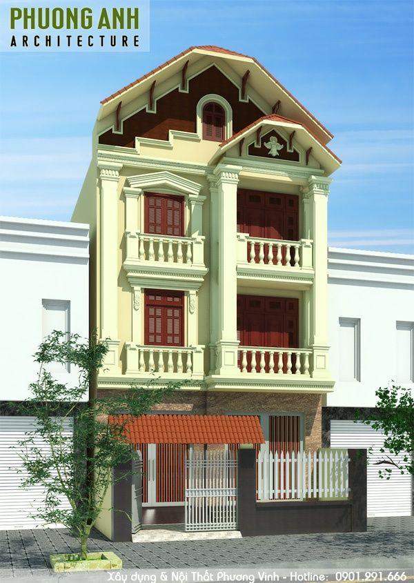 Thiết kế nhà tân cổ điển 3 tầng đẹp tại Hải Phòng