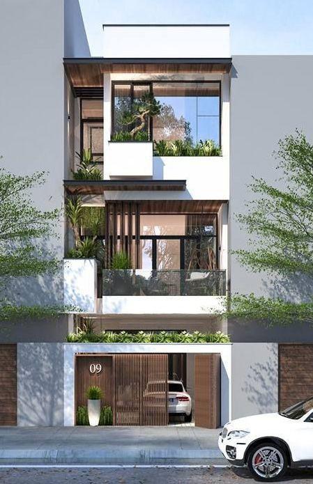 Mẫu nhà 3 tầng hiện đại 2020