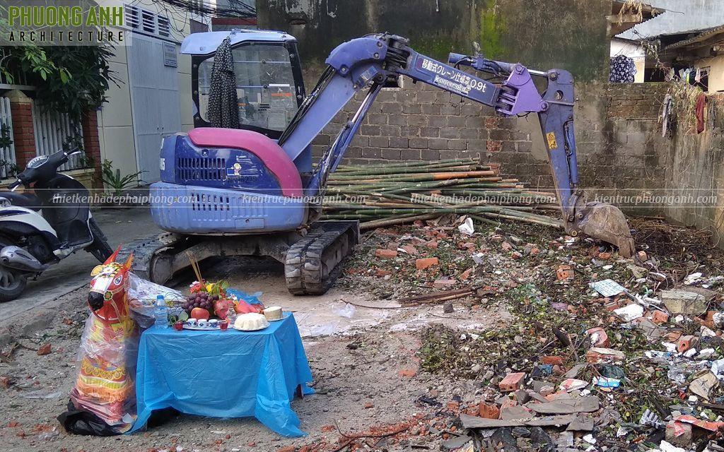 Động thổ xây nhà trọn gói tại Văn Cao - Ngô Quyền - Hải Phòng