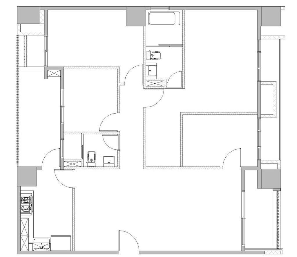 Bản vẽ mặt bằng căn hộ chung cư ban đầu