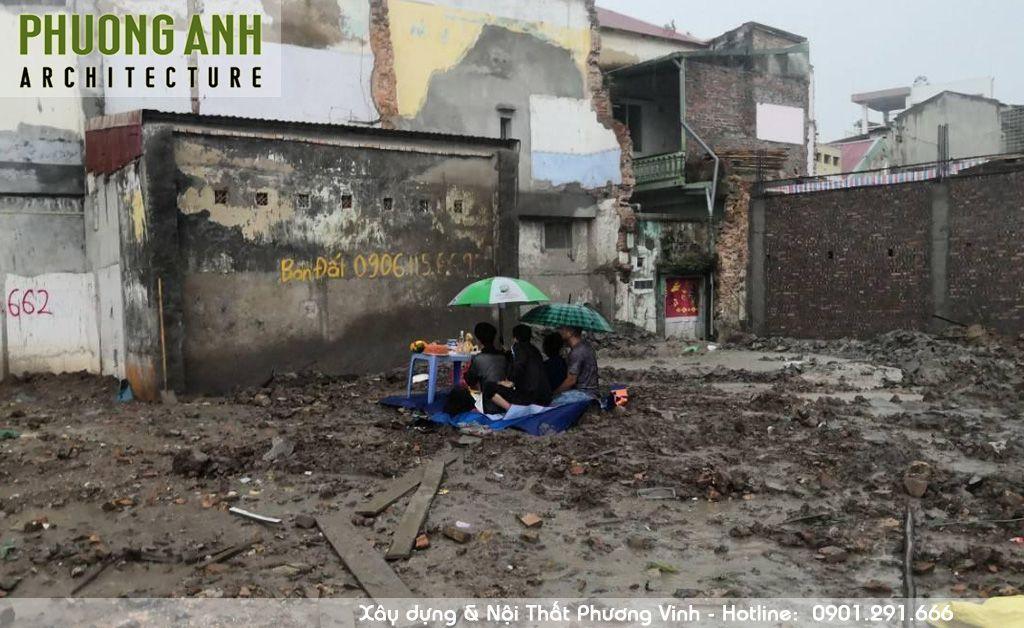 Động thổ xây nhà trọn gói tại Thế Lữ Hải Phòng