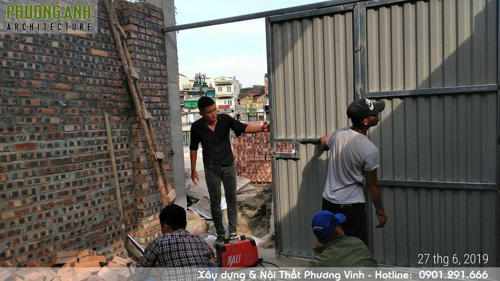 Nhật ký xây dựng làm cửa sắt tầng 1 nhà xây trọn gói 3 tầng 850 triệu tại Hải PHòng