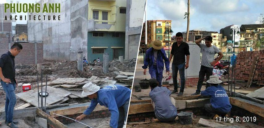 Giám sát đổ bê tông móng công trình xây nhà 4 tầng trọn gói tại Thế Lữ - Hải Phòng
