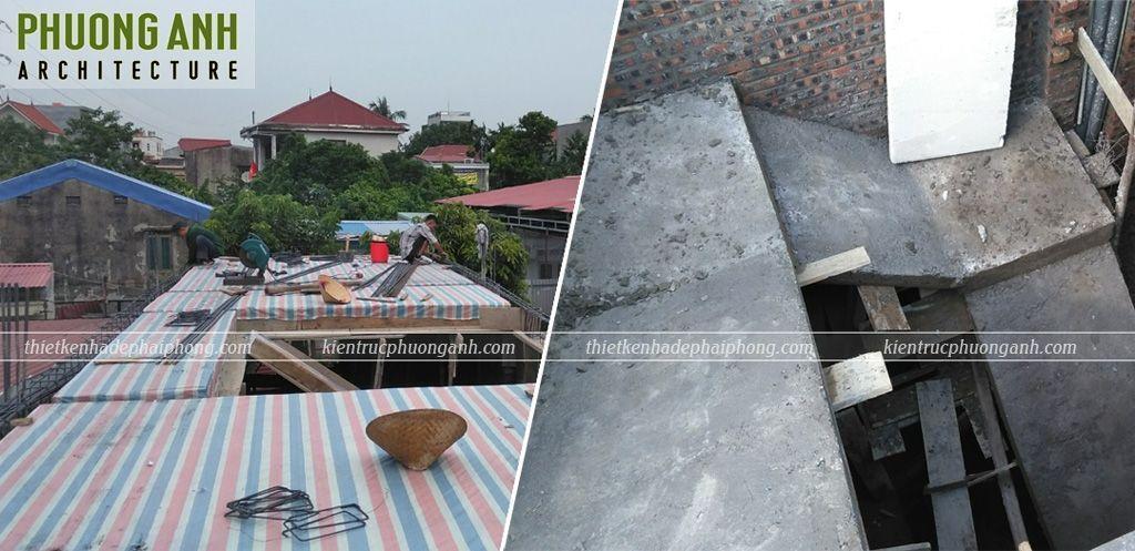 Đan sắt đổ mái tầng 2
