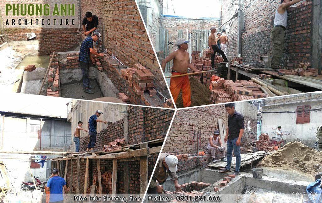 Giám sát thi công xây dựng tầng 1 nhà anh Nam ở Đình Đông - Hải Phòng