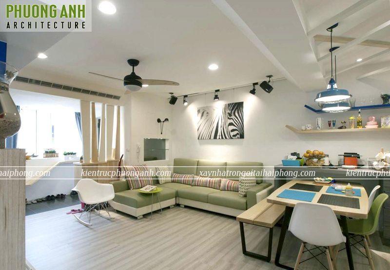 Thiết kế cải tạo nội thất chung cư 70m2 đẹp đơn giản