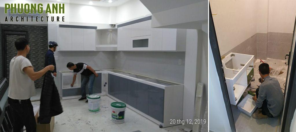 Hoàn thiện nội thất xây dựng trọn gói đã gồm tủ bếp, vệ sinh, chiếu sáng