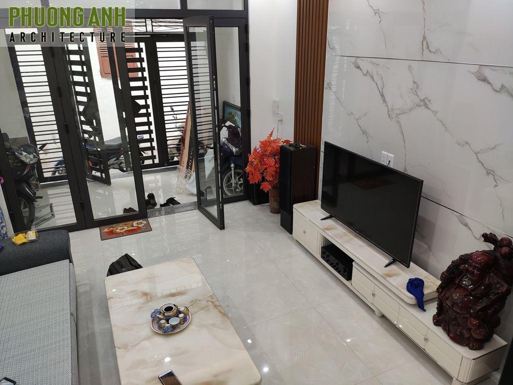 Thiết kế thi công nội thất phòng khách sang trọng hiện đại giá rẻ bất ngờ
