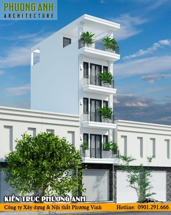 Mặt tiền nhà phố 4m 5 tầng tiết kiệm chi phí thi công