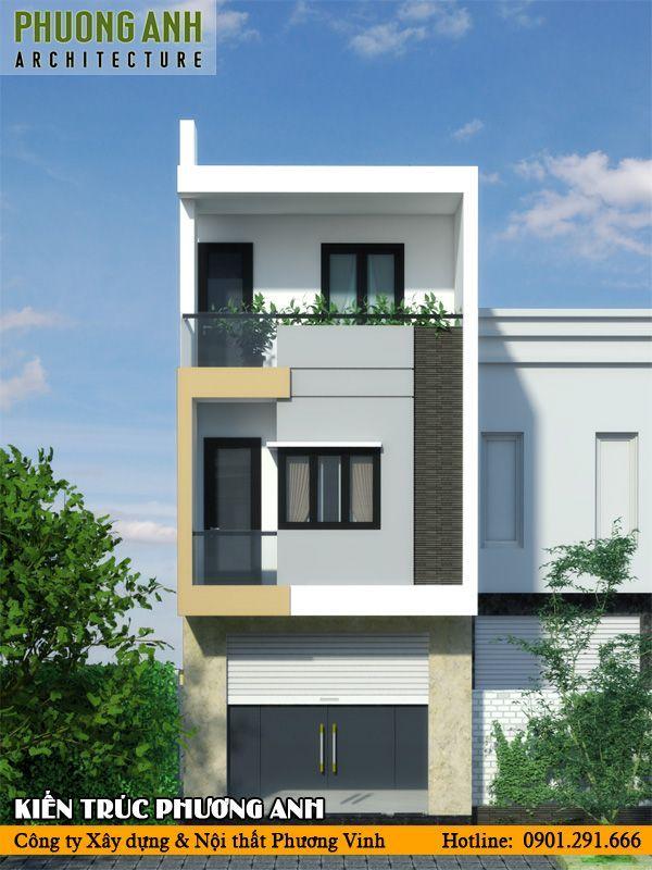 Mặt tiền nhà phố 5m 3 tầng đơn gian mà đẹp tiết kiệm chi phí xây nhà
