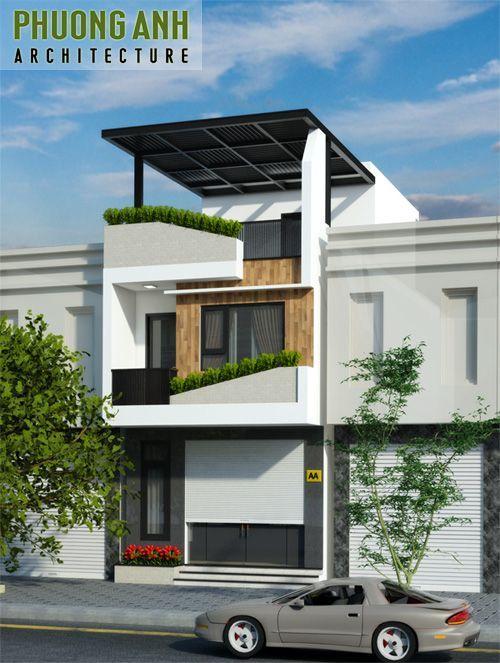 Nhà phố 3 tầng - Mẫu thiết kế nhà đẹp hiện đại tiết kiệm chi phí thi công