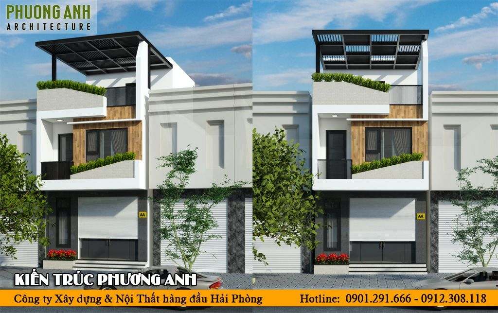 Nhà phố 3 tầng NP268 - Mẫu thiết kế nhà đẹp hiện đại tiết kiệm chi phí thi công