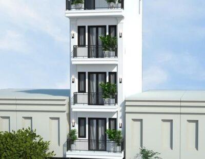 Mẫu nhà 5 tầng đẹp 4x10 phong cách tân cổ điển tại Hải Phòng