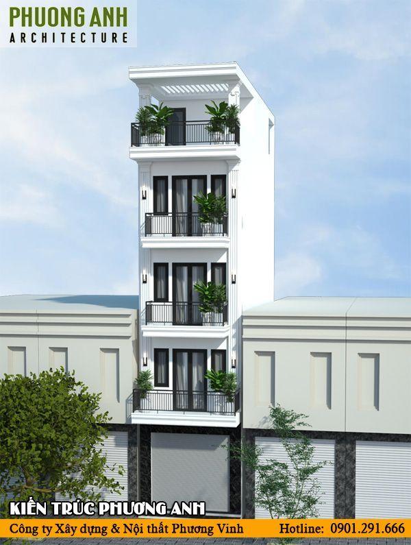 Mẫu nhà 5 tầng đẹp 4x10 phong cách tân cổ điển mặt tiền 4m tại Hải PhòngMẫu nhà 5 tầng đẹp 4x10 phong cách tân cổ điển mặt tiền 4m tại Hải Phòng