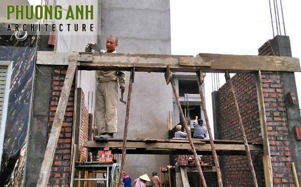 Nhật ký thi công xây nhà trọn gói 5 tầng mặt tiền 4m tại Thế Lữ - Hải Phòng