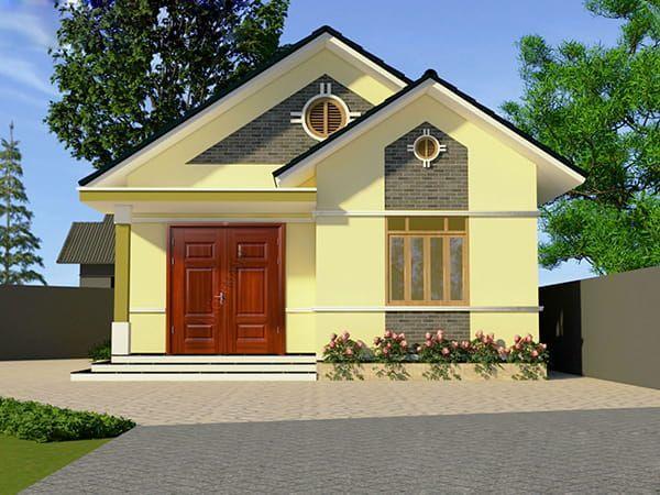 Mẫu nhà cấp 4 mái thái 3 phòng ngủ 1 phòng thờ