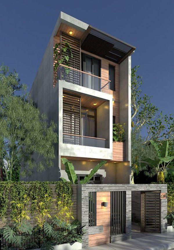 Mẫu nhà đẹp 3 tầng 5x12m gần gũi thiên nhiên
