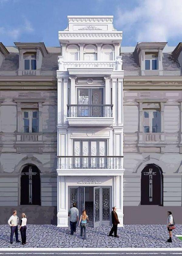Mẫu nhà ống tân cổ điển 4 tầng siêu đẹp 2020