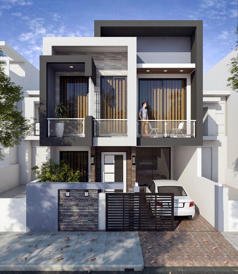 Mẫu thiết kế nhà mặt tiền 10m đẹp dẫn đầu xu hướng thiết kế