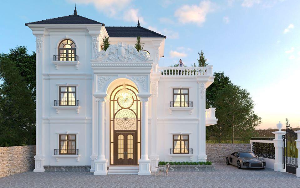 Biệt thự 3 tầng tân cổ điển đẹp 2020