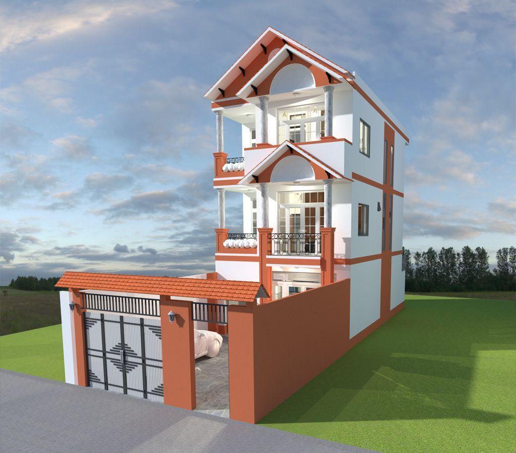 Mặt tiền nhà 3 tầng đẹp rộng 7m dẫn đầu xu hướng thiết kế 2020