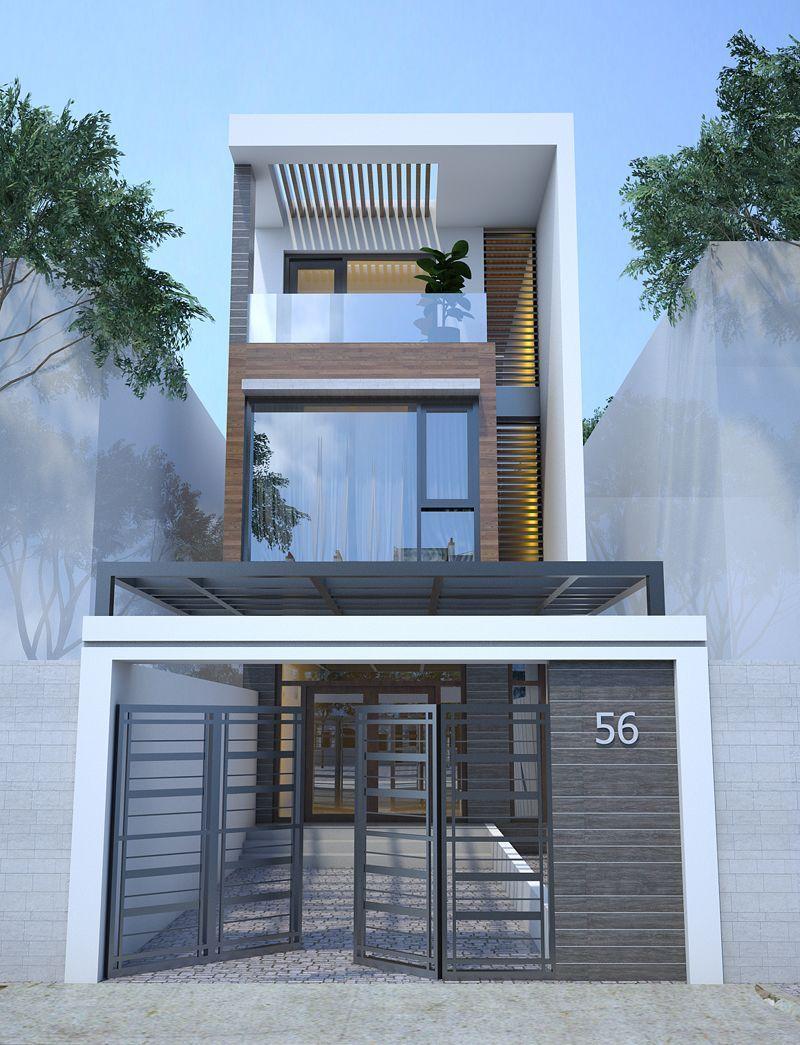 Mẫu nhà đẹp 3 tầng 5x12m - Top 3 thiết kế nhà đẹp 2020