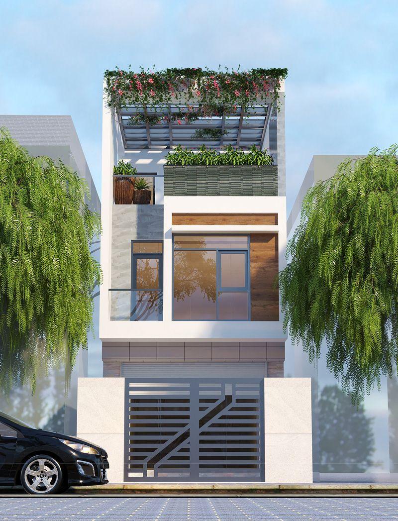 Mẫu nhà đẹp 3 tầng hiện đại