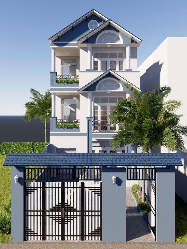 Thiết kế nhà đẹp 3 tầng mặt tiền 7m
