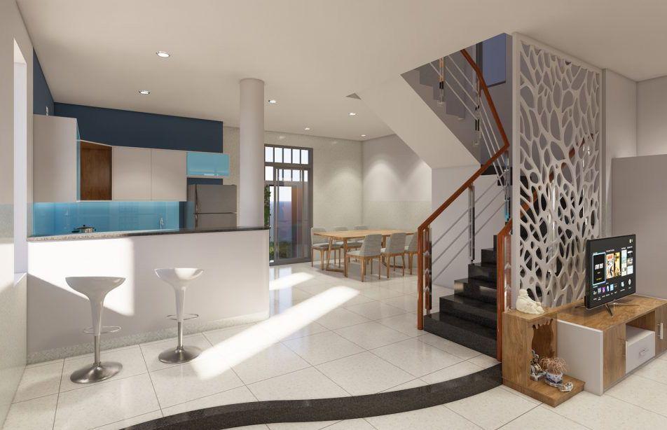 Thiết kế nội thất phòng bếp và phòng ăn