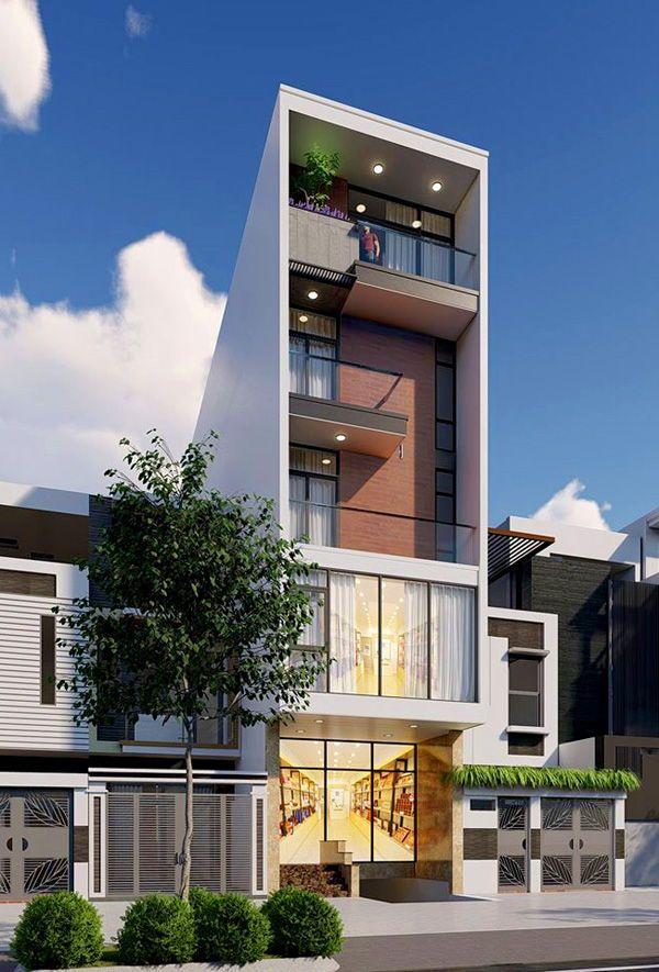 Mẫu nhà 5 tầng đẹp hiện đại