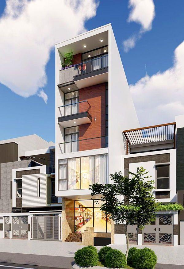 Thiết kế nhà 5 tầng mặt tiền 5m