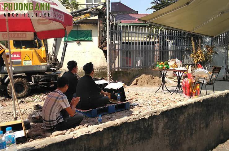 Động thổ Xây nhà trọn gói tại Thiên Lôi Hải Phòng