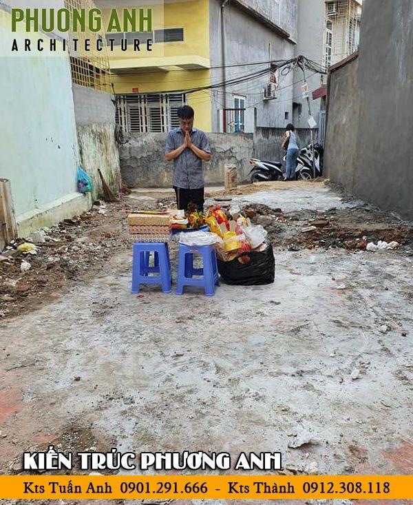 Động thổ thi công xây dựng nhà trọn gói tại Tô Hiệu Hải Phòng