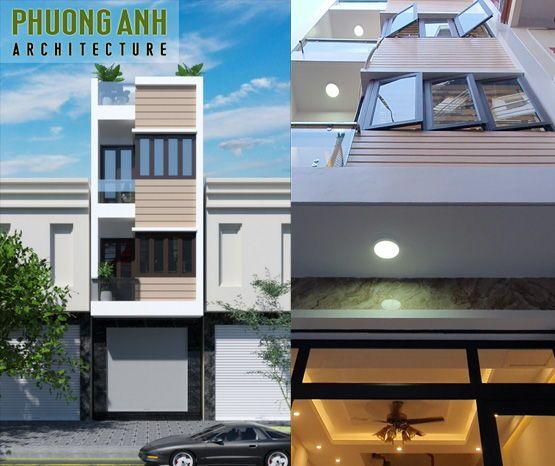 Nhận thi công xây dựng nhà trọn gói - 890 triệu 3.5 tầng