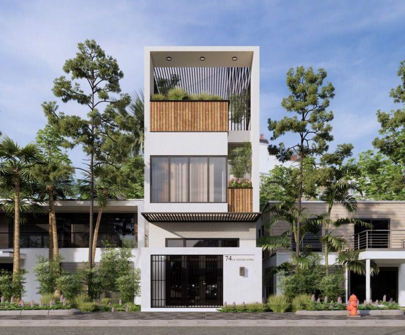 Mẫu nhà 3 tầng đẹp 2021