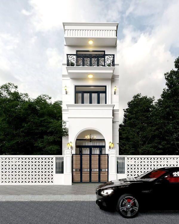Mẫu nhà tân cổ điển 3 tầng 2021