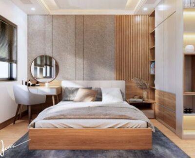 Thiết kế nội thất phòng ngủ kiểu Hàn