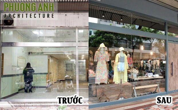Thiết kế thi công shop thời trang đẹp tại Hà Nội