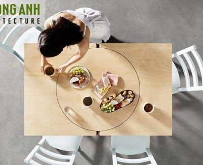 Ban an thong minh gap gon 400x325 - Bàn ăn thông minh gấp gọn