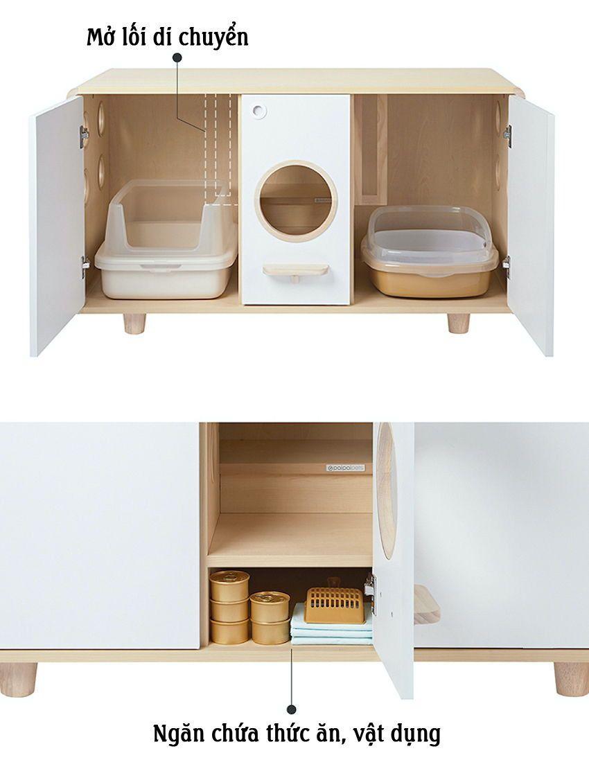 Cấu tạo tủ thông minh làm nhà cho thú cưng