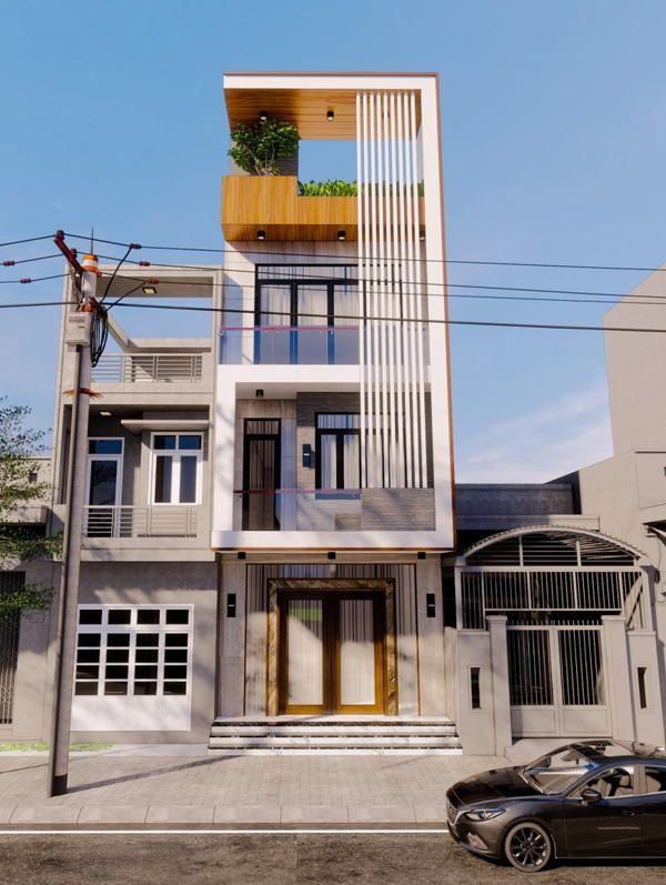 Mặt tiền nhà 4 tầng đẹp được xây nhiều trong năm 2021