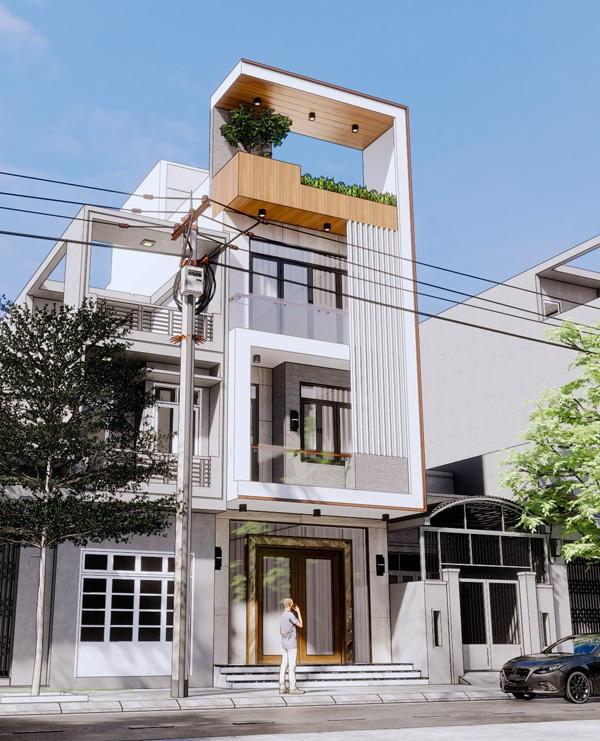 Mẫu nhà 4 tầng đẹp hiện đại