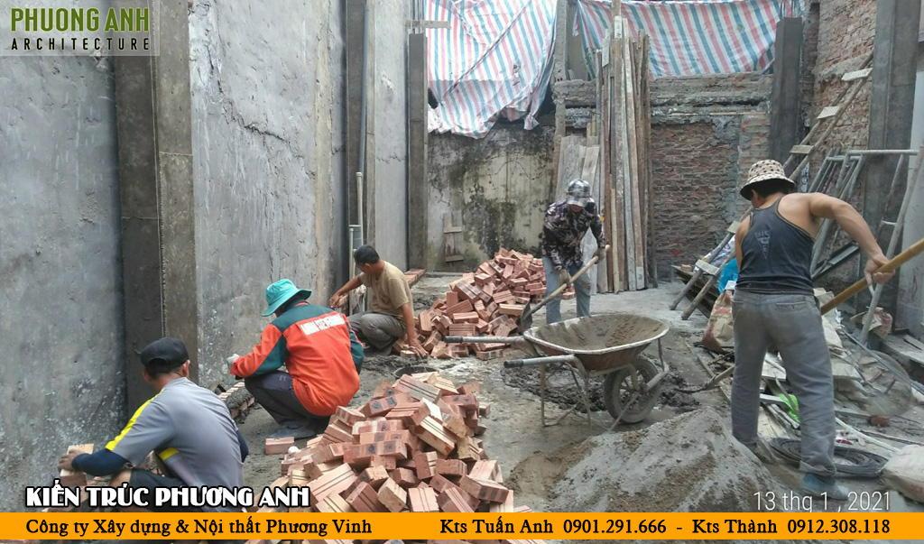 Thi công xây nhà trọn gói tại Chợ Hàng Hải Phòng