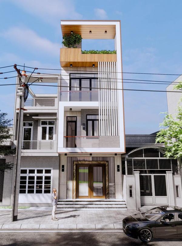 Thiết kế nhà 4 tầng đẹp hiện đại