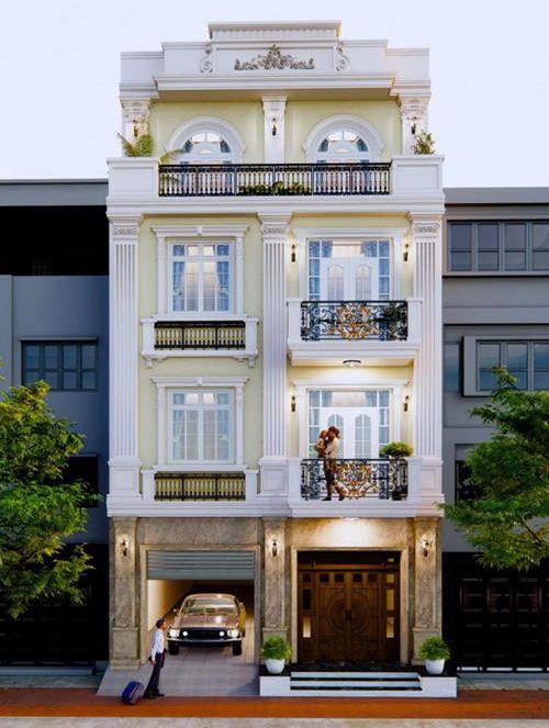 Thiết kế nhà mặt tiền 8m sâu 10m