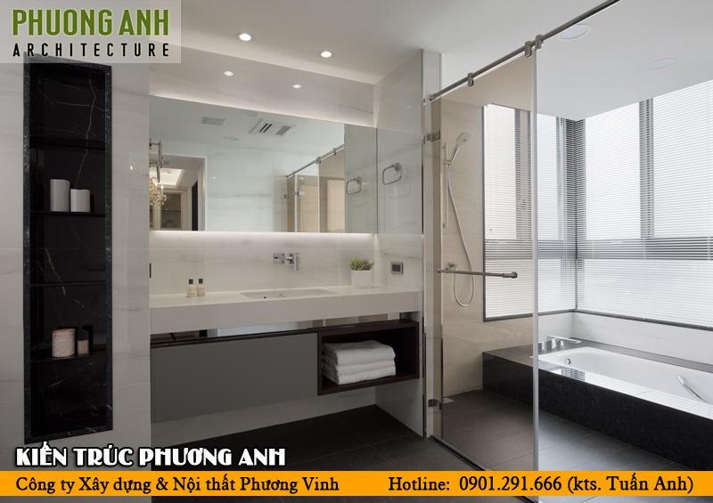 Thiết kế nhà vệ sinh và nhà tắm riêng   Phòng tắm có vách kính