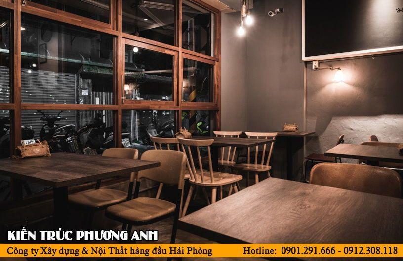 Mẫu quán cafe đơn giản theo phong cách cổ điển