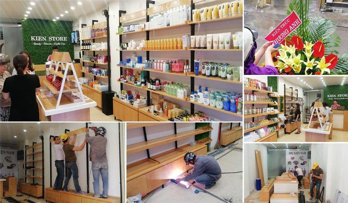 Thiết kế thi công nội thất shop mỹ phẩm Kiên Store