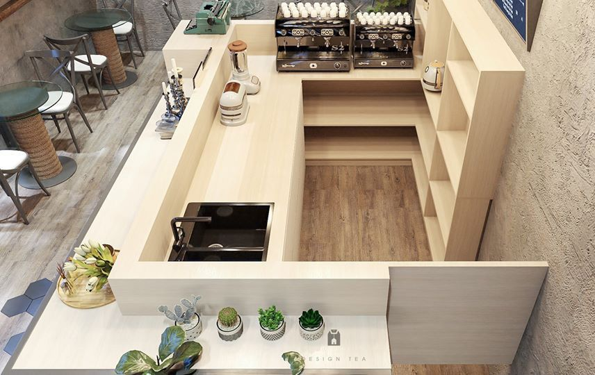 Thiết kế nội thất bar cafe